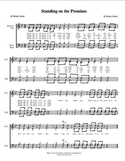 Standing on the Promises - Learn How to Sing Hymns Music Interactive